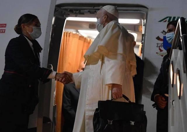Vatikan, Frantisek, lietadlo