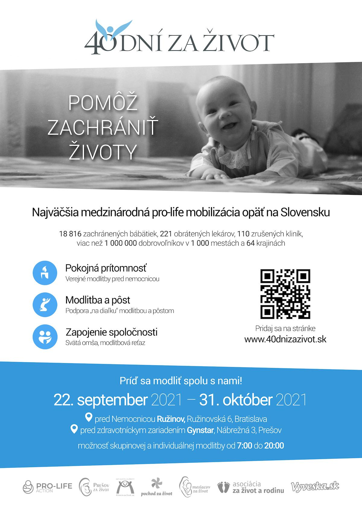 Bratislava, kampan, 40 dni za zivot, plagat